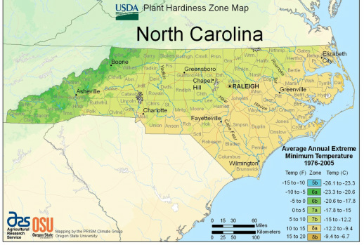 New Plant Hardiness Zones From The USDA Mecklenburg - Us map grow zones